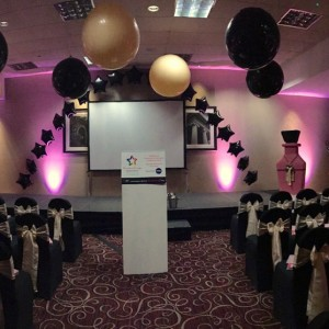 Event decoration for Superdrug at Eastwood Hall